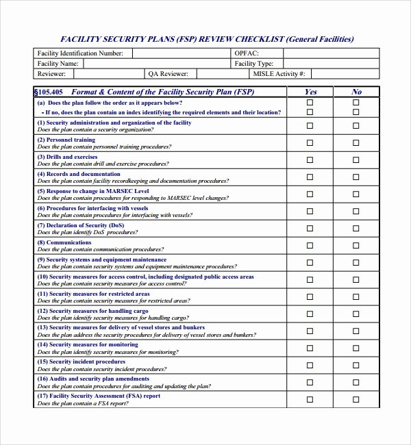 Physical Security Plan Template New Sample Security Plan Template 11 Free Documents In Pdf