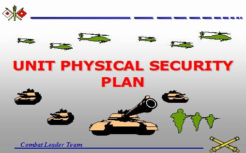 Physical Security Plan Template New Unit Physical Security Plan Armystudyguide
