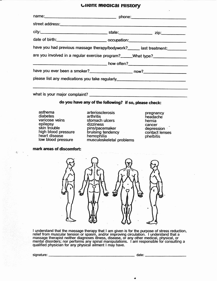 Physical therapy forms Template Awesome Massage therapy Consent forms Free Google Search