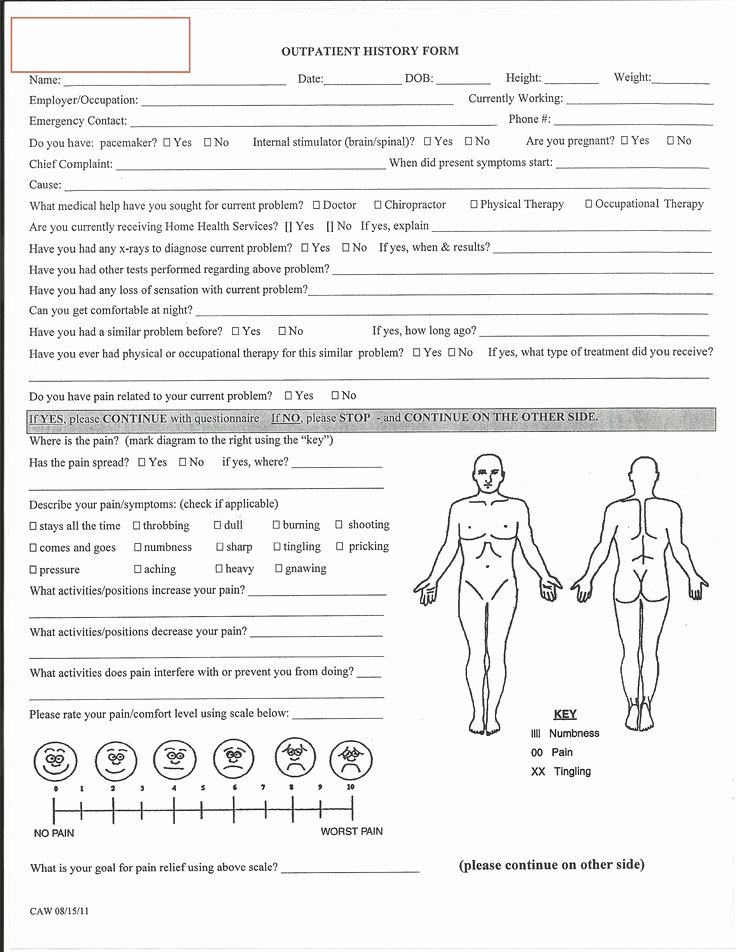 Physical therapy forms Template Fresh Evaluation Physical therapy Evaluation form Physical