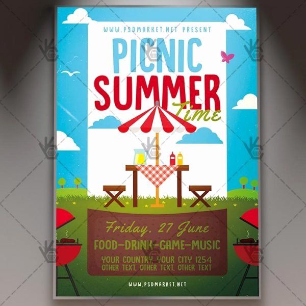Picnic Flyer Template Free Awesome Download Picnic Time Flyer Psd Template