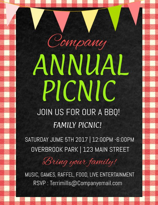 Picnic Flyer Template Free Beautiful Copy Of Picnic