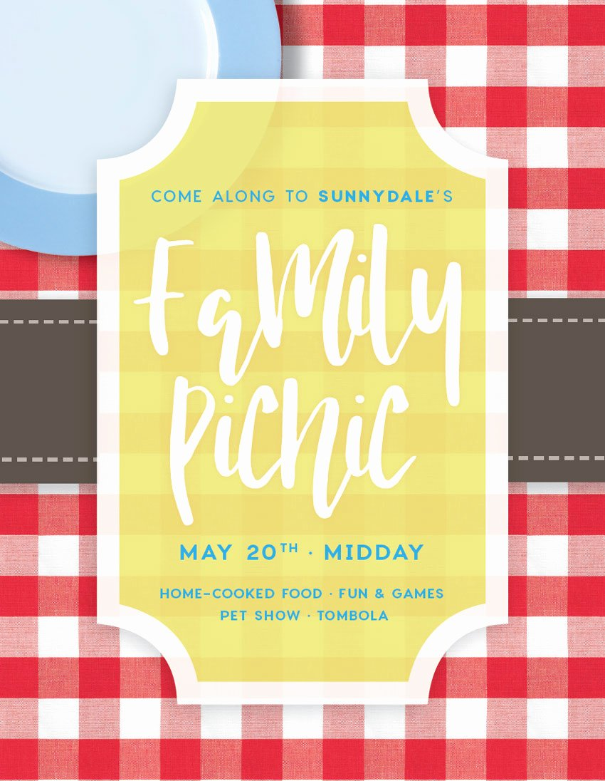 Picnic Flyer Template Free Best Of How to Create A Summer Picnic Munity event Flyer In