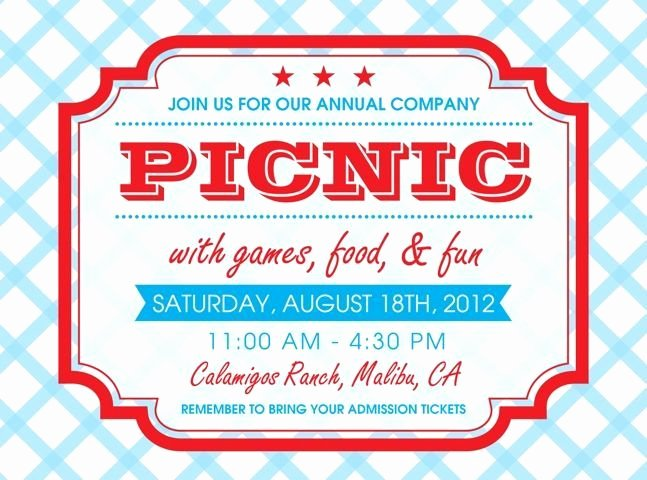 Picnic Flyer Template Free Elegant Free Printable Picnic Invitation Template Google Search