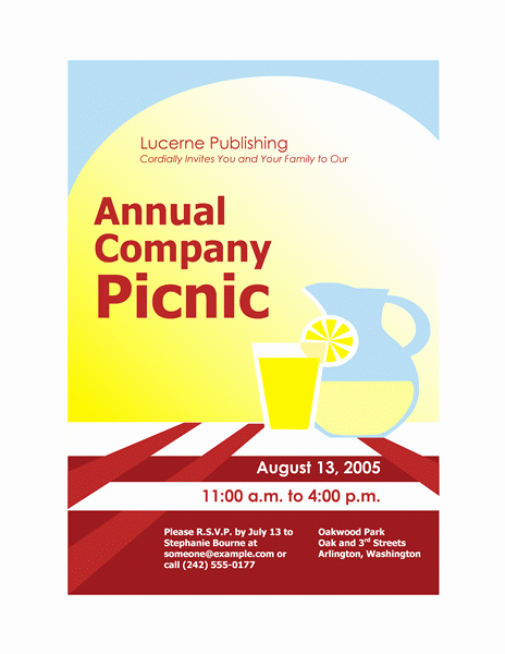 Picnic Flyer Template Free Fresh Download Free Printable Invitations Of Pany Picnic