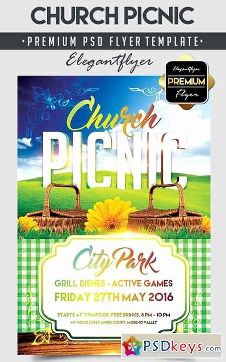 Picnic Flyer Template Free Inspirational Church Picnic – Flyer Psd Template Cover Free
