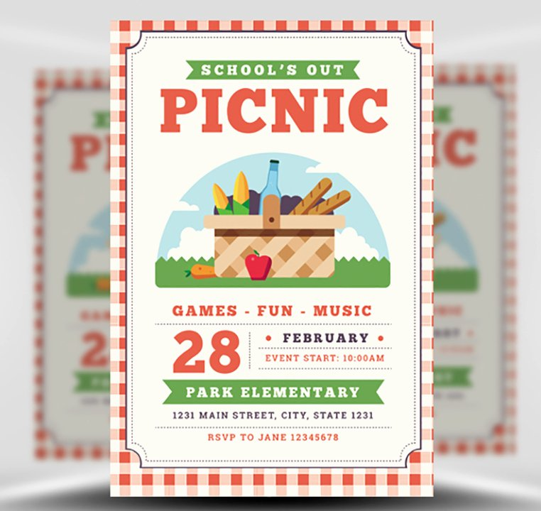 Picnic Flyer Template Free New School S Out Picnic Flyer Template Flyerheroes