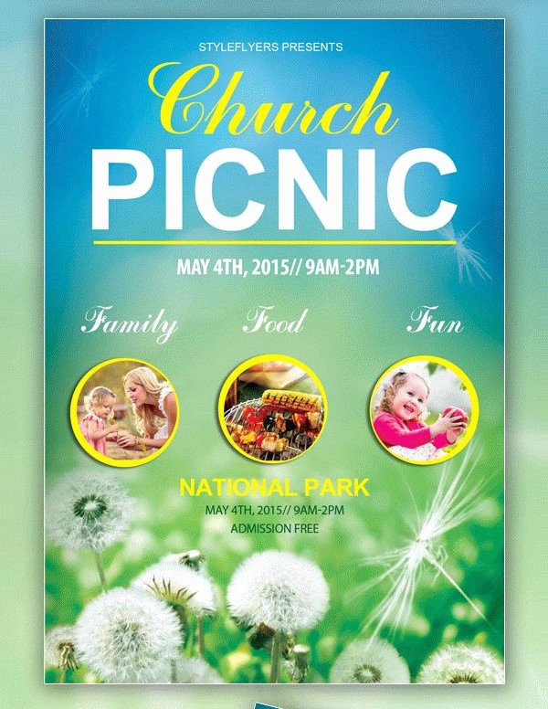 Picnic Flyer Template Free Unique 41 Church Flyer Templates Free & Premium Download