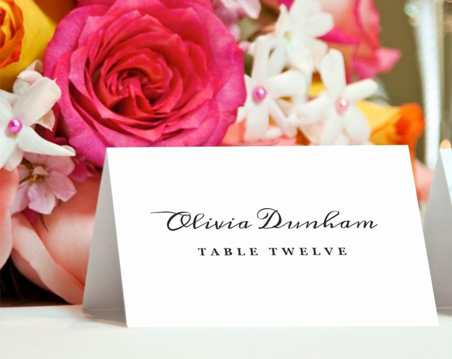 printable place card template instant editable text and colors mac or pc word pages flat or folded plain card