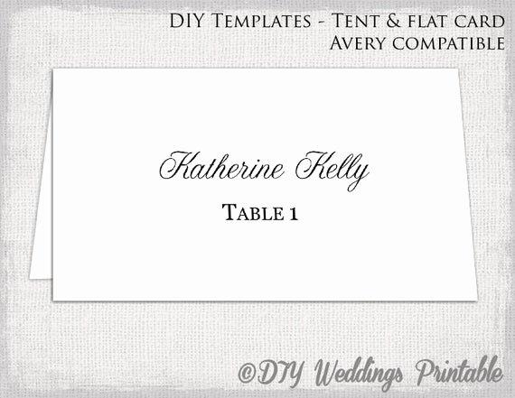 Place Card Template Word Beautiful Place Card Template Tent & Flat Name Card Templates