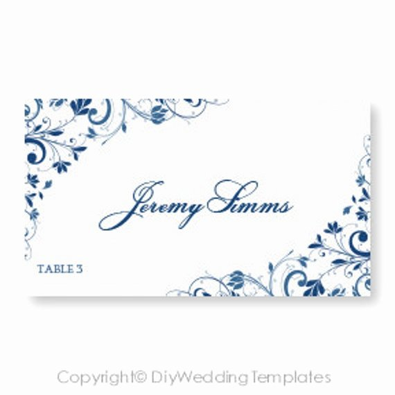 Place Card Template Word Elegant Wedding Place Card Template Download by Diyweddingtemplates