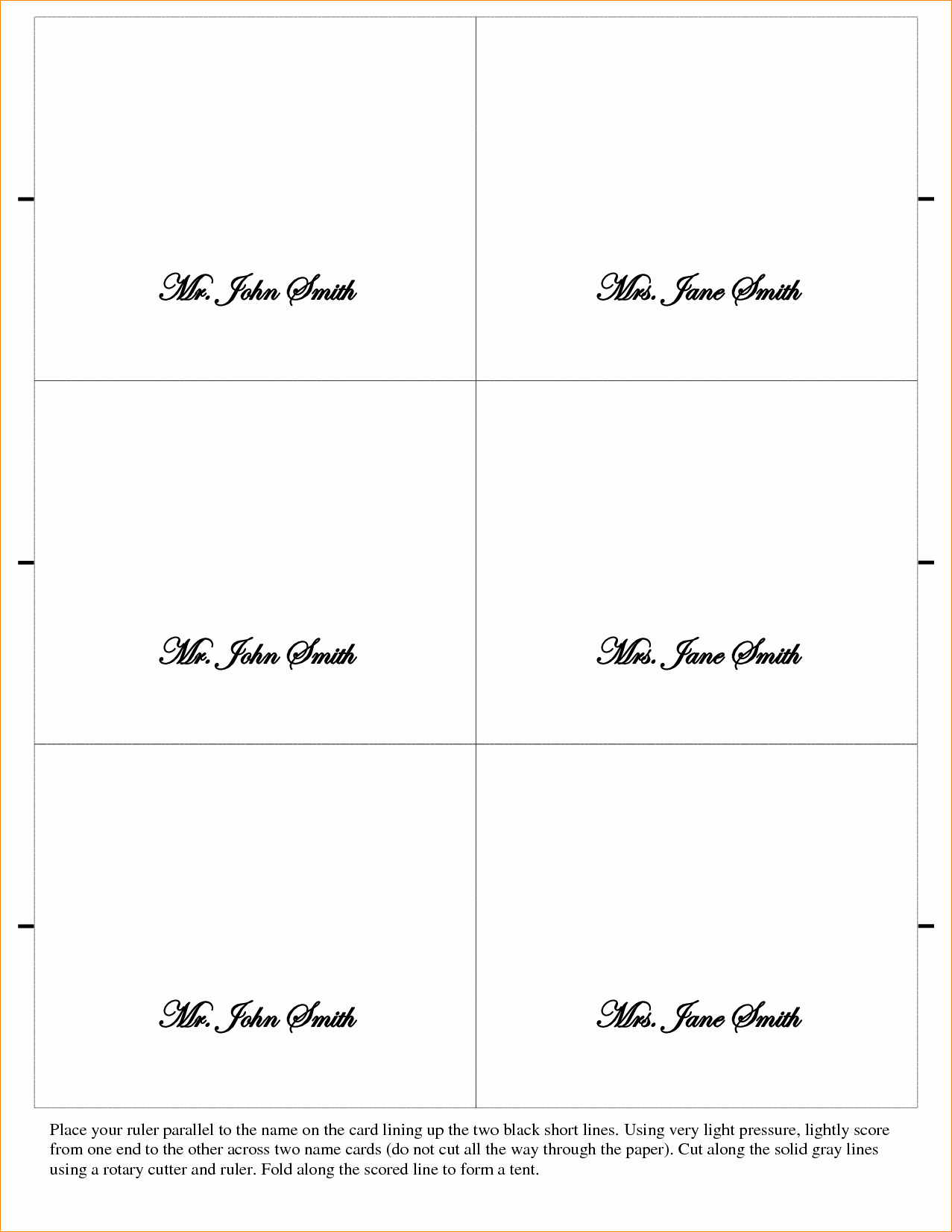 Place Card Template Word Fresh 5 Placecard Template