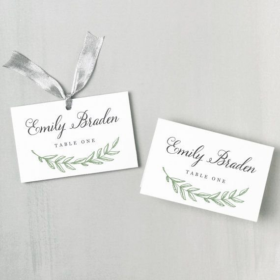 Place Card Template Word Inspirational Best 25 Place Card Template Ideas On Pinterest