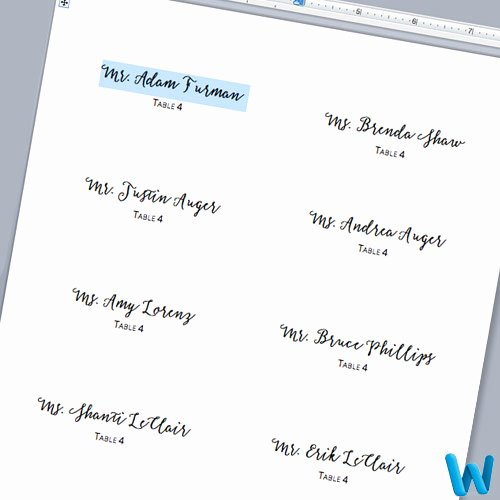 Place Card Template Word Lovely Make Your Own Layered Wedding Place Cards with Glitter Paper