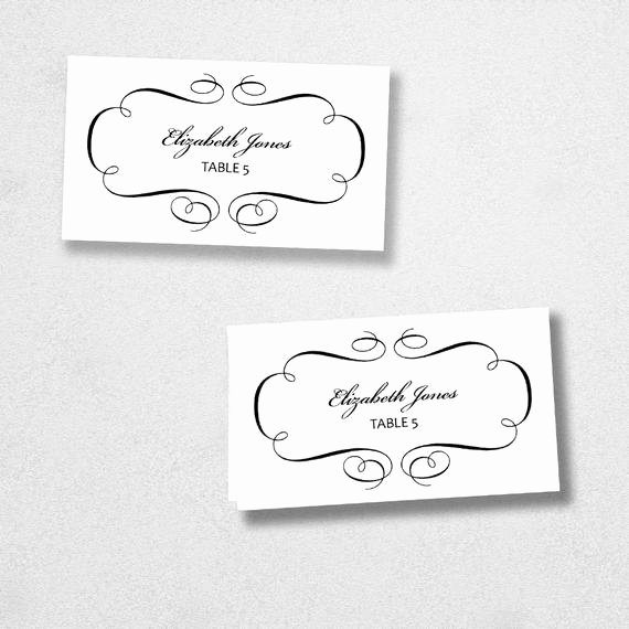 Place Card Template Word Luxury Avery Place Card Template Instant Download Escort Card