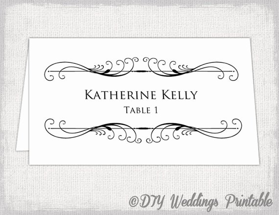Place Card Template Word Luxury Printable Place Card Template Tent Name Card Templates