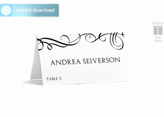 Place Card Template Word Unique Place Card Template Download Instantly by Karmakweddings
