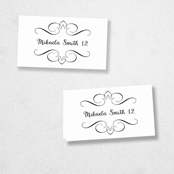 Place Card Templates Word Awesome Printable Place Card Template Instant Download Escort Card