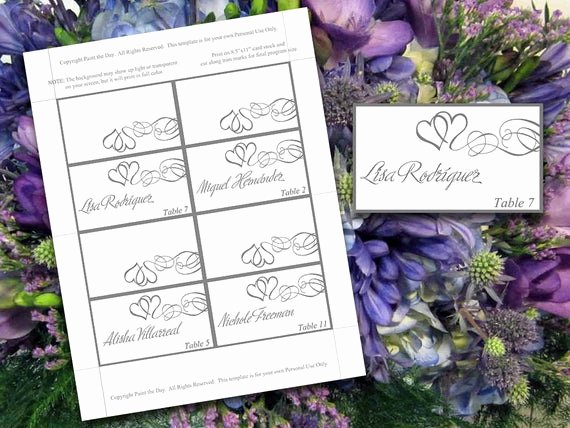tent place cards microsoft word template