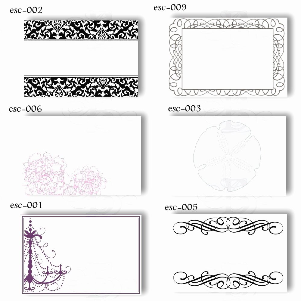 Place Card Templates Word Beautiful 19 Elegant & Fun Printable Place Cards