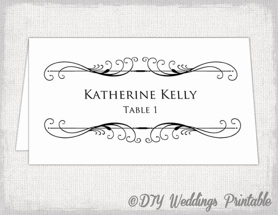 Place Card Templates Word Best Of Printable Place Card Template Tent Name Card Templates