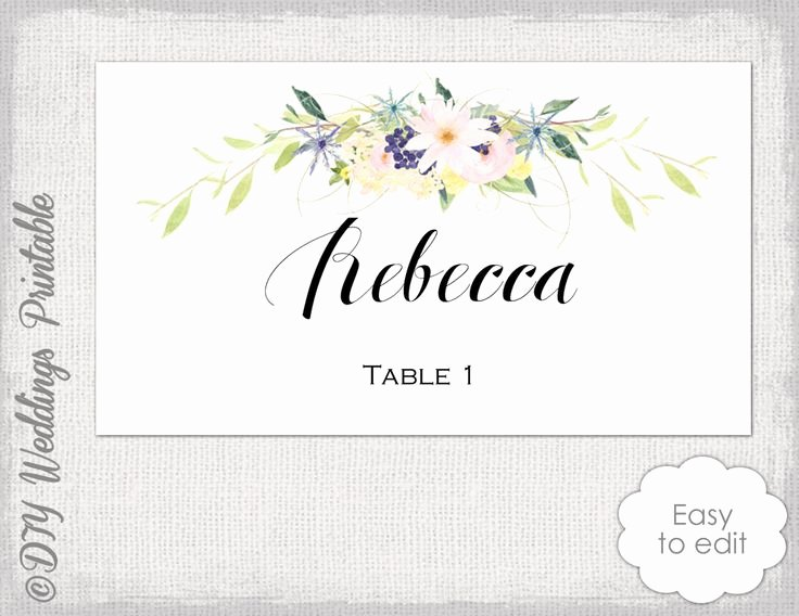 Place Card Templates Word Inspirational Best 25 Free Place Card Template Ideas On Pinterest
