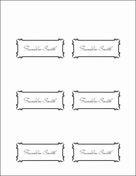 Place Card Templates Word Inspirational Place Cards Template