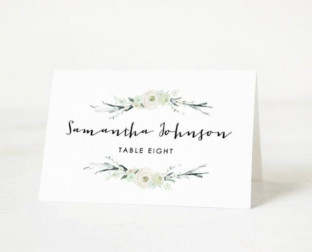 Place Card Templates Word Inspirational Printable Place Card Template Wedding Place Card Name