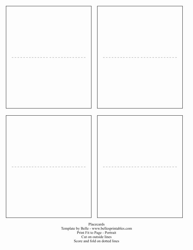 Place Card Templates Word Lovely Free Printable Blank Place Card Template