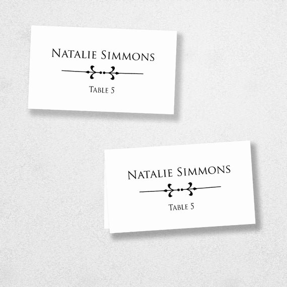 Place Card Templates Word Lovely Printable Place Card Template Instant Download Escort Card