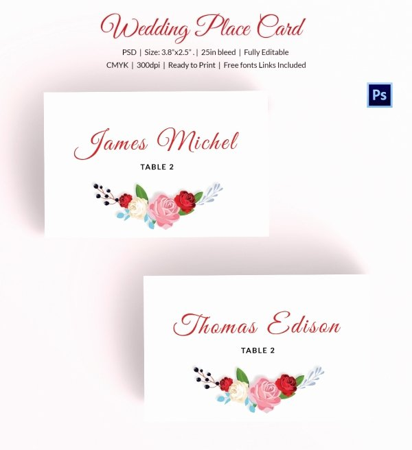 Placement Card Template Word Awesome 25 Wedding Place Card Templates