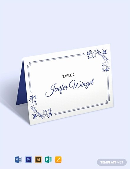 Placement Card Template Word Fresh 12 Free Place Card Templates Word Psd