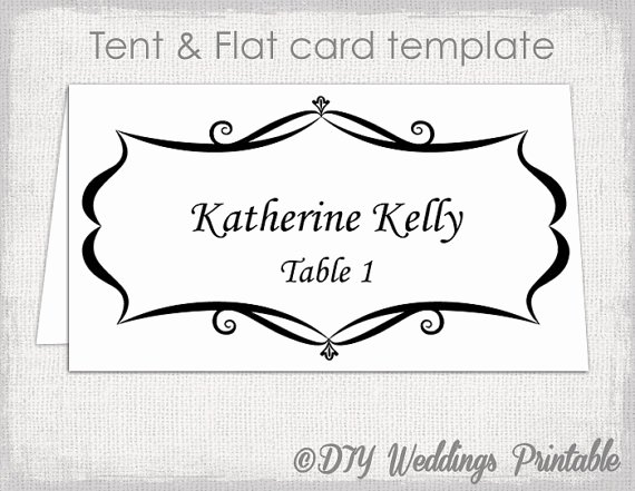 Placement Card Template Word Lovely Place Card Template Tent and Flat Name Card Templates