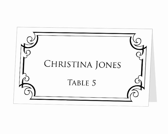 Placement Card Template Word New Avery Table Tent Template