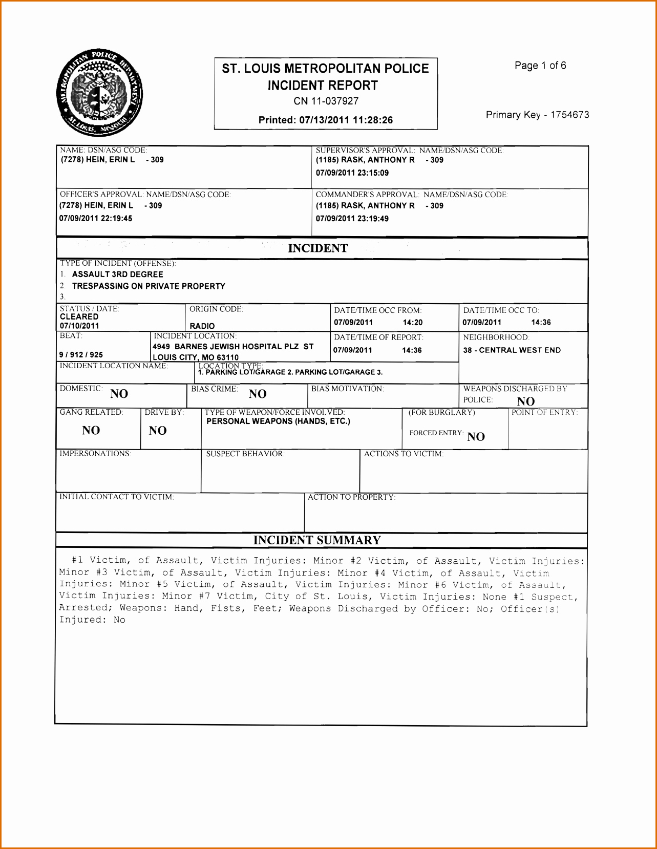Police Report Template Pdf Lovely 8 Blank Police Report