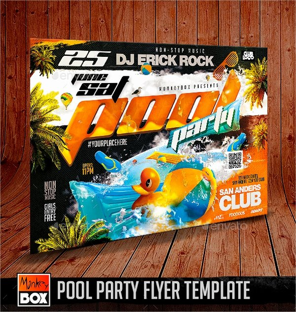 Pool Party Flyer Templates Awesome 23 Pool Party Flyers Free Psd Word Ai Eps format
