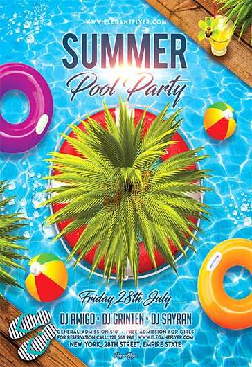 Pool Party Flyer Templates Awesome Free Flyers Templates and Premium Flyers
