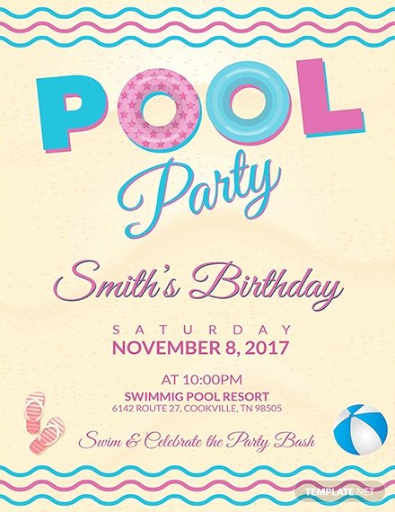 Pool Party Flyer Templates Elegant 23 Pool Party Flyers Free Psd Word Ai Eps format