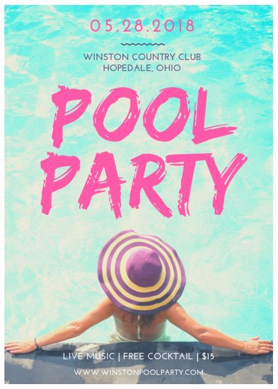 Pool Party Flyer Templates Elegant Customize 174 Party Flyer Templates Online Canva