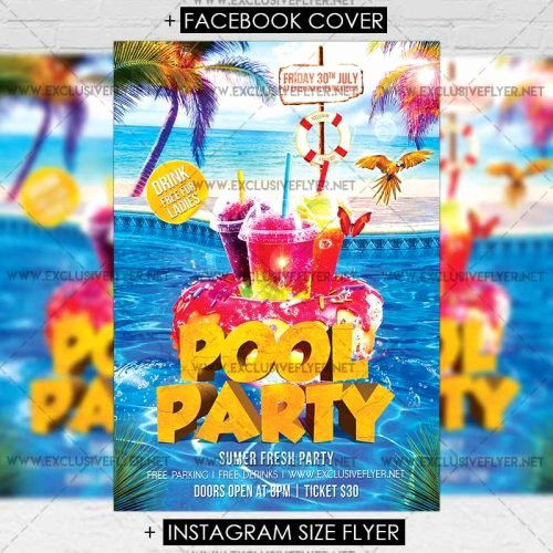 Pool Party Flyer Templates Fresh Pool Party – Premium A5 Flyer Template
