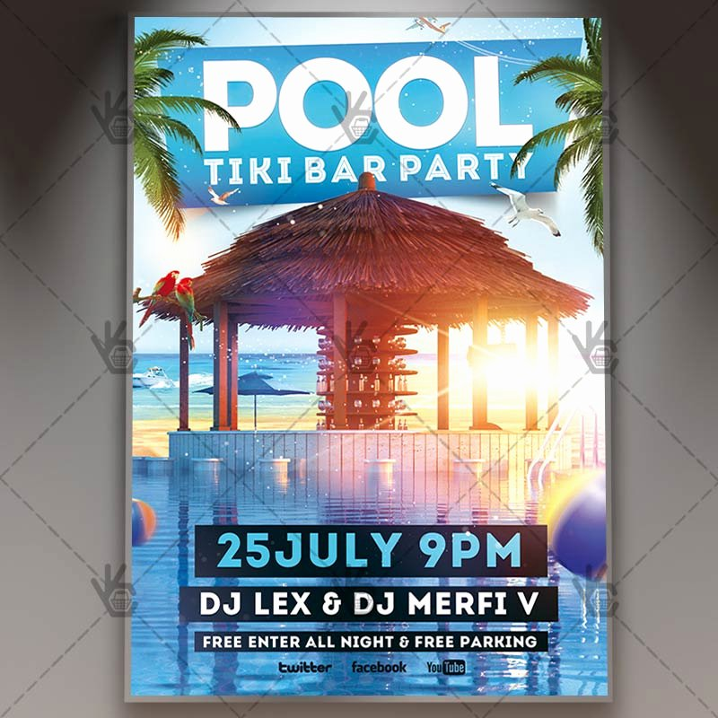 Pool Party Flyer Templates Luxury Download Pool Party Flyer Psd Template