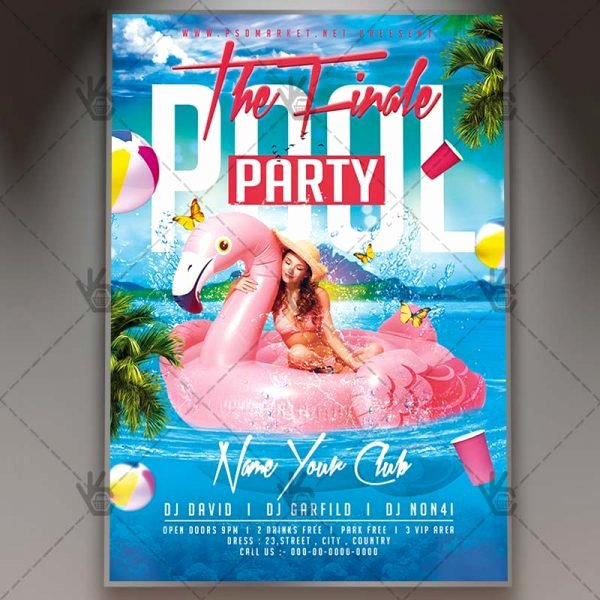 Pool Party Flyer Templates Luxury Download Summer Pool Party Flyer Psd Template