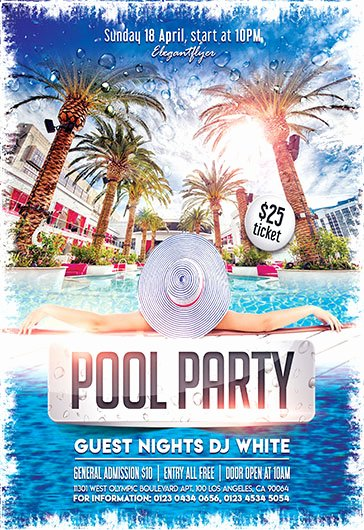 Pool Party Flyer Templates Luxury Free Flyers Templates and Premium Flyers