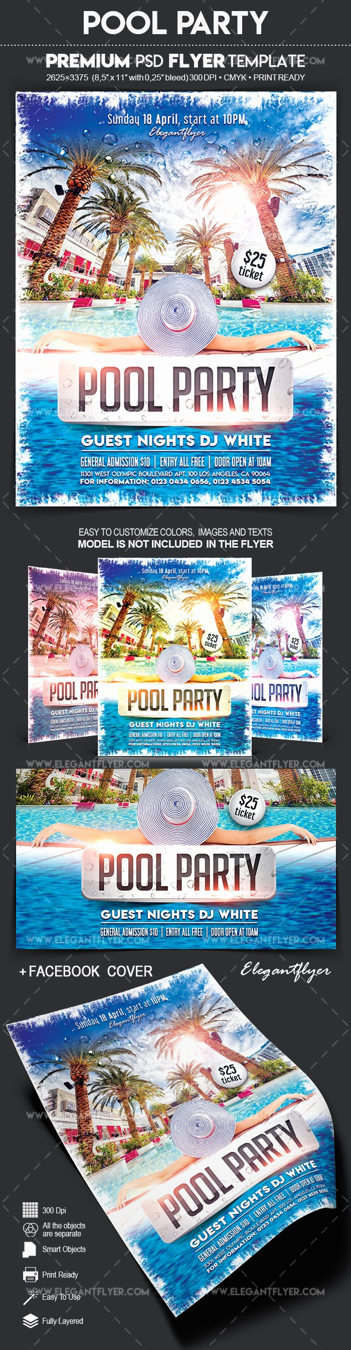 Pool Party Flyer Templates Luxury Pool Party – Flyer Psd Template – by Elegantflyer