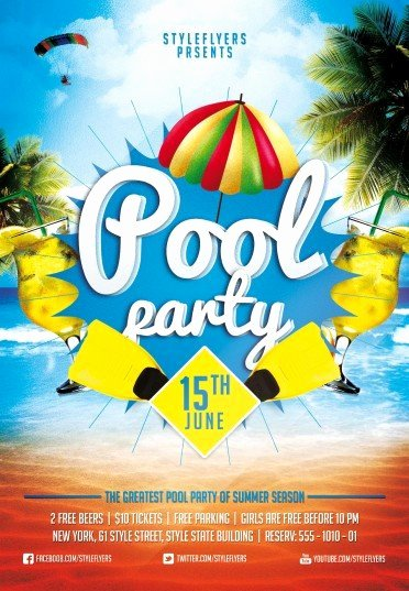 Pool Party Flyers Templates Free Awesome Pool Party Flyer Templates Cti Advertising