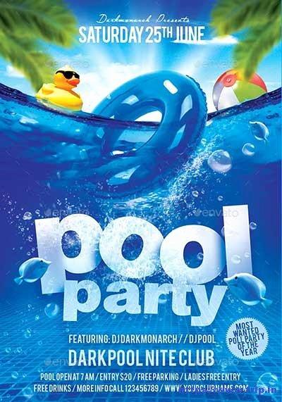 Pool Party Flyers Templates Free Elegant 50 Best Summer Pool Party Flyer Print Templates 2019