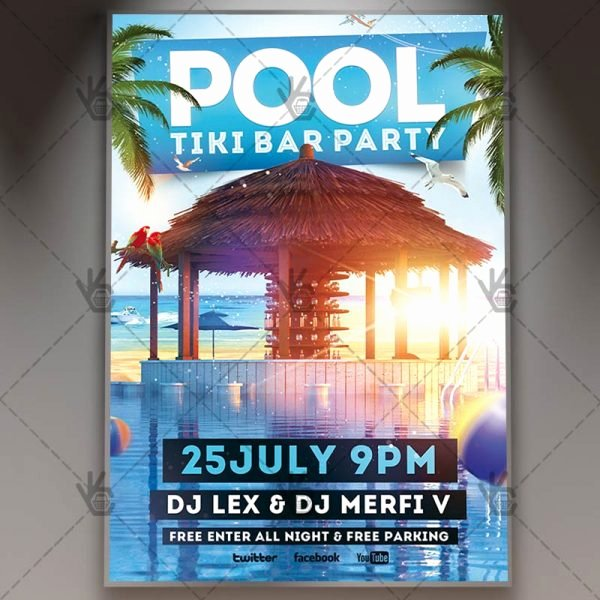 Pool Party Flyers Templates Free Elegant Download Pool Party Flyer Psd Template