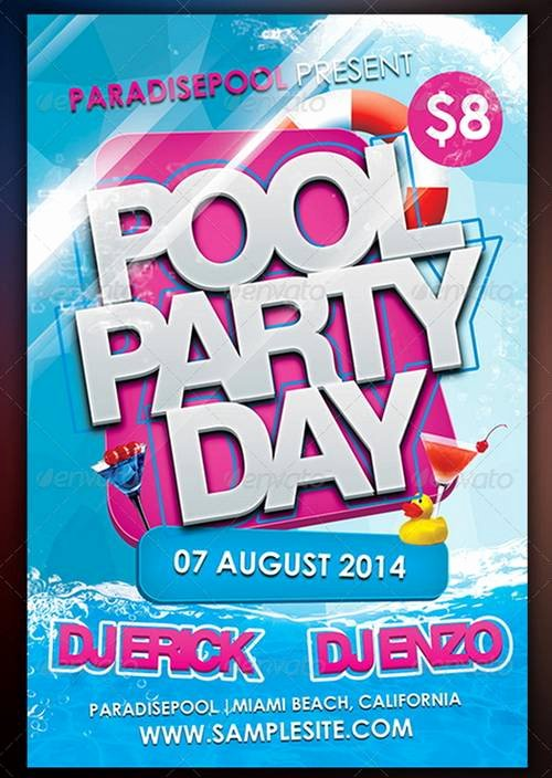 Pool Party Flyers Templates Free Elegant Free Printable Pool Party Flyers