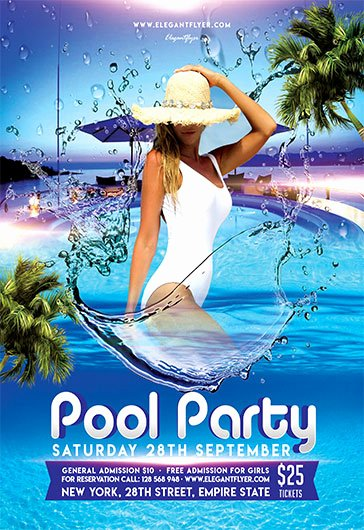 Pool Party Flyers Templates Free Elegant Pool Party V05 – Flyer Psd Template – by Elegantflyer