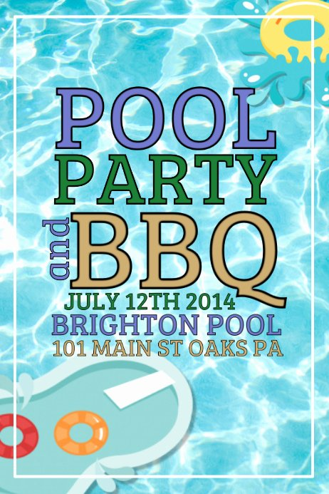 Pool Party Flyers Templates Free Fresh Pool Party Template
